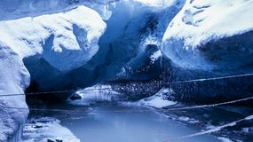 Ice cave in Vatnajökull National Park, Iceland. royalty free stock photo