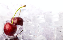 Ice Cherries Royalty Free Stock Images