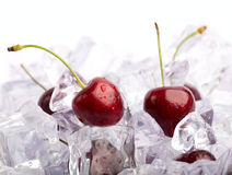 Ice Cherries Stock Photography