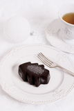 Ice chocolate dessert in form of Christmas tree Stock Image