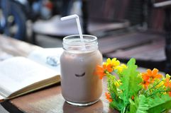 An Ice Chocolate MIlk Royalty Free Stock Photo