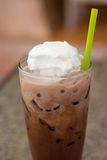Ice chocolate with whip cream Royalty Free Stock Image