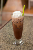 Ice chocolate with whip cream Stock Photography