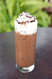 Ice chocolate with whipped cream Stock Photography