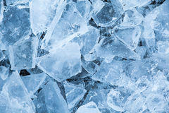 Ice chunks in nature Stock Photo