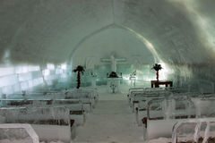 Ice Church Interior Stock Images