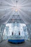 Ice church made from ice on the top of Hrebienok, High Tatras Slovakia. stock photography