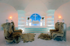 Ice Church, Sorrisniva Stock Photography