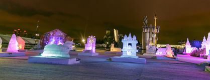 Ice city in Moscow Royalty Free Stock Image