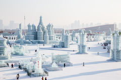 Ice city russian style Royalty Free Stock Photo