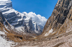 The ice cliff. Annarpurna base camp Nepal Stock Images