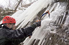 Ice climber Royalty Free Stock Images
