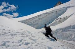Ice climber Royalty Free Stock Photo