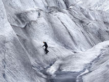 Ice climber on Mendenhall Glacier Royalty Free Stock Photography