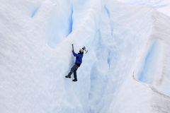 Ice climber on the Perito Moreno Glacier Royalty Free Stock Photo