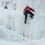 Ice Climber in South Tyrol, Italy Royalty Free Stock Image