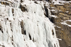 Ice climbers. Shot at the Weeping Wall in Banff National Park Royalty Free Stock Photos