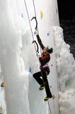Ice climbing Royalty Free Stock Photography