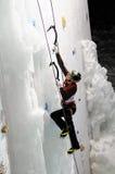 Ice climbing Royalty Free Stock Photography