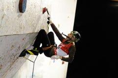 Ice climbing Stock Image
