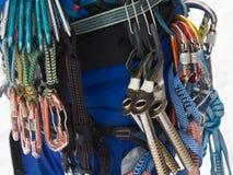 Ice Climbing. Equipment. Abisko National Park, Lappland, Sweden royalty free stock photos