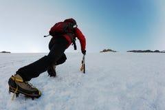 Ice climbing Royalty Free Stock Photos