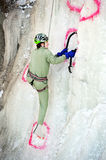 Ice climbing competition Stock Image