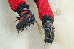 Ice climbing crampon Stock Image