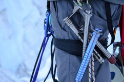Ice Climbing Equipment Royalty Free Stock Photography