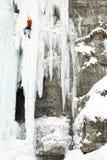 Ice climbing. royalty free stock photos