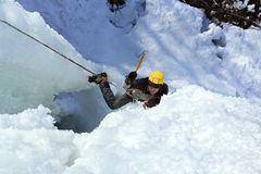 Ice climbing Stock Images
