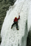 Ice climbing the North Caucasus. Royalty Free Stock Photography