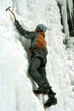 Ice climbing the North Caucasus. Royalty Free Stock Photos