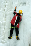 Ice climbing the North Caucasus. Royalty Free Stock Images