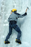 Ice climbing the North Caucasus. Stock Photography