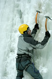 Ice climbing the North Caucasus. Royalty Free Stock Image
