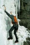 Ice climbing the North Caucasus. Royalty Free Stock Photo