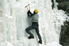 Ice climbing the North Caucasus. Stock Photos