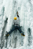 Ice climbing the North Caucasus. Stock Photo