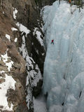 Ice climbing at Ouray Ice Park Royalty Free Stock Photo