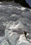 Ice climbing, Puyallup Glacier Stock Image