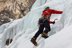 Ice Climbing in South Tyrol, Italy Royalty Free Stock Photos