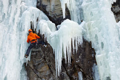Ice Climbing in South Tyrol, Italy Stock Photos