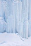 Ice climbing wall Stock Photo