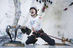 Ice Climbing World Championship 2011 Royalty Free Stock Photography