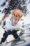 Ice Climbing World Championship 2011 Stock Photo
