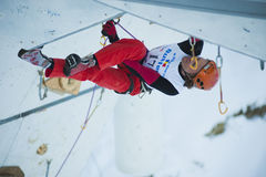 Ice Climbing World Cup Championship Busteni 2010 Stock Photo