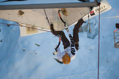 Ice Climbing World Cup Championship Busteni 2010 Royalty Free Stock Photo