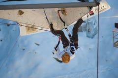 Ice Climbing World Cup Championship Busteni 2010 Royalty Free Stock Photo
