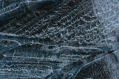 Ice close up, raindrops. Close up, raindrops turned into ice Stock Photo